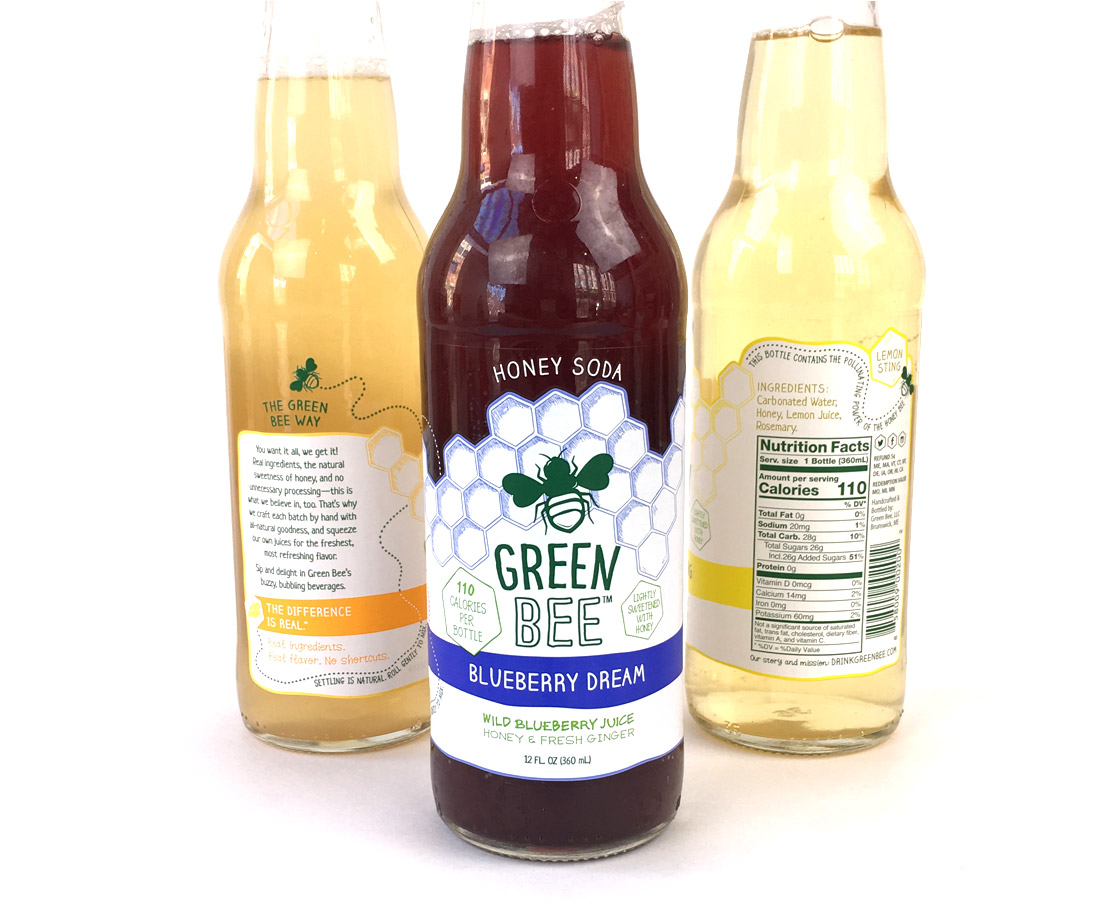 green-bee-label-wrap